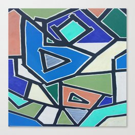 shapes of blue Canvas Print