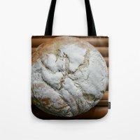 bread Tote Bags featuring Bread Winner by KunstFabrik_StaticMovement Manu Jobst