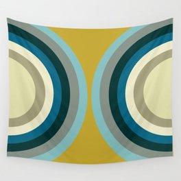 Circles on Circles - Rainy Beach Wall Tapestry