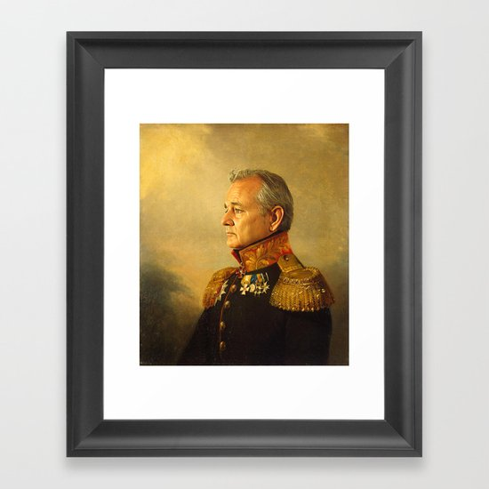 bill murray replaceface framed art print
