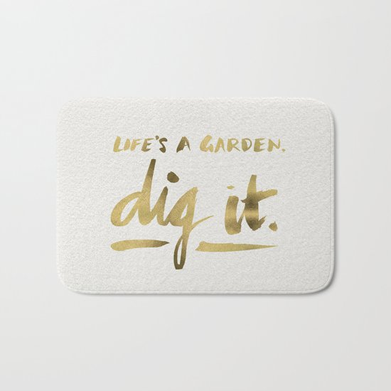 Dig It – Gold Ink Bath Mat