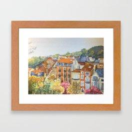 Brussels: neighborhood in Forest area. Framed Art Print