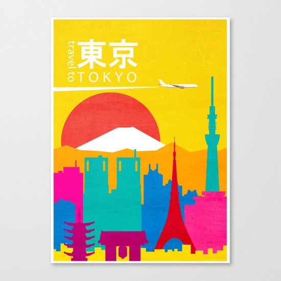 Travel to Tokyo Canvas Print
