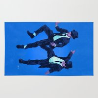 blues brothers Area & Throw Rugs featuring Blues Brothers by Dave Collinson