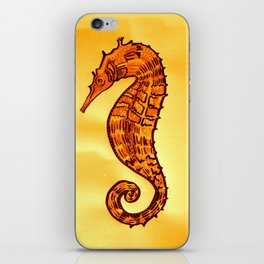 Seahorse in Yellow and Brown iPhone Skin