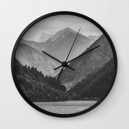 Wild mountain landscape Wall Clock