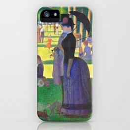Georges Seurat A Sunday On La Grande Jatte iPhone Case