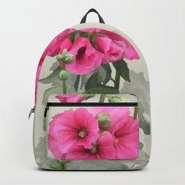 Pink flowers, watercolors Backpack