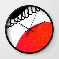 clown Wall Clocks featuring clown by Gréta Thórsdóttir