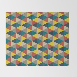 Colorful geometric   Pattern Throw Blanket