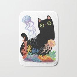 the Aquarium Cat _ Jellyfish Bath Mat
