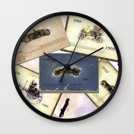 retro cars Wall Clock