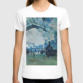 Claude Monet - Arrival Of The Normandy Train, Gare Saint Lazare T-shirt