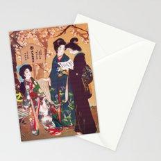 Vintage Oriental Kimono Shop Ad Stationery Cards