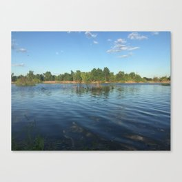 Along the Banks Canvas Print