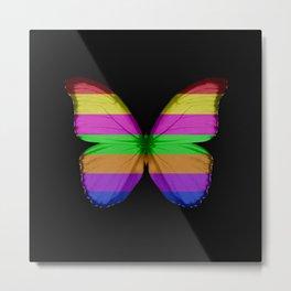 Rainbow Morpho Butterfly Metal Print