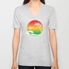 Retro Summer Beach | Surfing Lover Unisex V-Neck