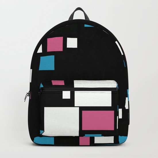Colorful combined pattern . Backpack