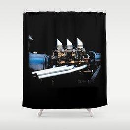 Rat Rod Motor Shower Curtain
