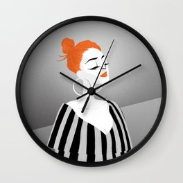 RED HAIRED GIRL Wall Clock