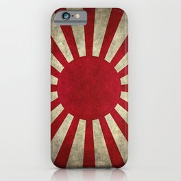 Imperial Japanese Army Ensign Flag - Vintage retro version iPhone Case