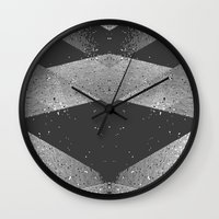 wwe Wall Clocks featuring Abstract by eARTh