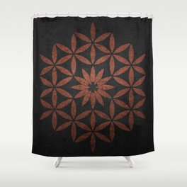 The Flower of Life - Ancient copper Shower Curtain