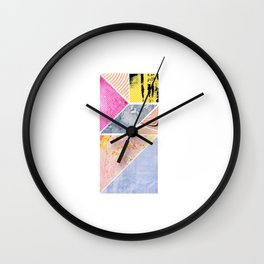 Collaged Tangram Alphabet - I Wall Clock