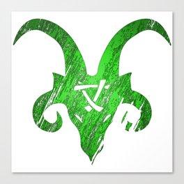 Green Horned Skaven Canvas Print
