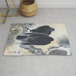 Two Crows On A Pine Branch - Digital Remastered Edition Rug