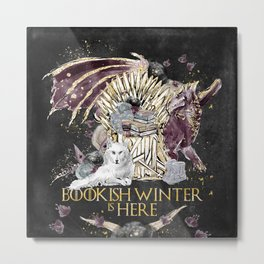 Bookis Winter is Here Metal Print