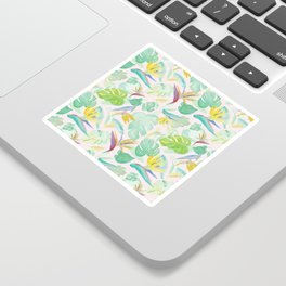 Birds of Paradise Pattern Sticker