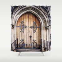 doors Shower Curtains featuring Doors by JMcCool
