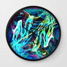 Fluid Abstract 29 Wall Clock