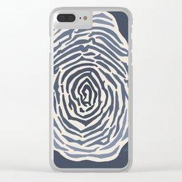 Fingerprint Study Clear iPhone Case