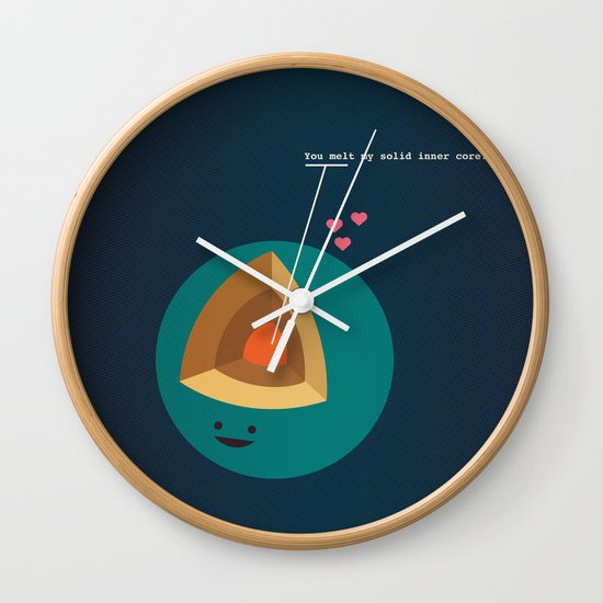 You Melt My Solid Inner Core Wall Clock