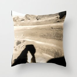 Delicate Arch shadow Throw Pillow