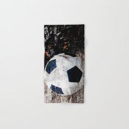 The soccer ball Hand & Bath Towel