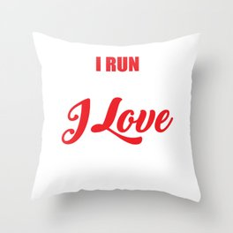 I Run Because I Love Bacon for Runners Throw Pillow
