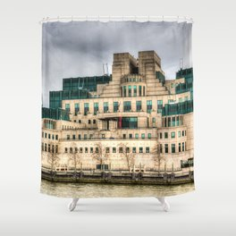MI6 Building London Shower Curtain
