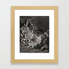 World Destroyed by Water Gustave Dore, 1866 Framed Art Print