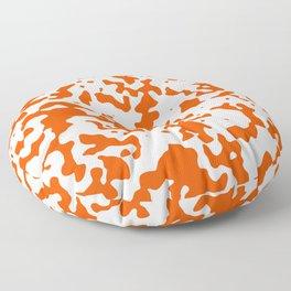 Spots - White and Dark Orange Floor Pillow