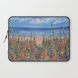 Summer Beach, Impressionism Seascape Laptop Sleeve