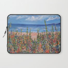 Summer Beach, Impressionism Seascape Laptop Sleeve