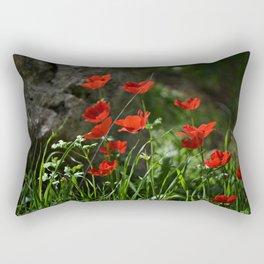 Anemones and Rock Rectangular Pillow