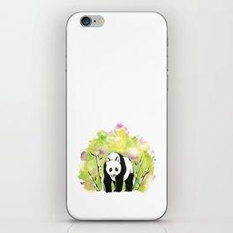 Watercolor Panda Green iPhone Skin