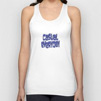 grafitti Tank Tops featuring casual everyday by dedmanshootn