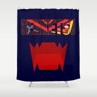 kill la kill Shower Curtains featuring Senketsu - Kill La Kill by feimyconcepts05