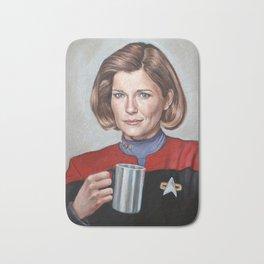 Captain Janeway - Portrait Painting Bath Mat