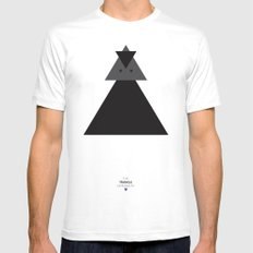The Triangle Experiment MEDIUM White Mens Fitted Tee